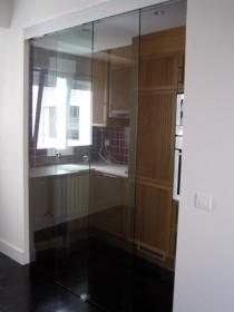 Puertas autom ticas de cristal puertas el ctricas de vidrio - Puertas de cristal correderas para cocinas ...